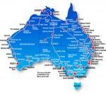 Транспортные  компании Австралии. Автобусные маршруты.