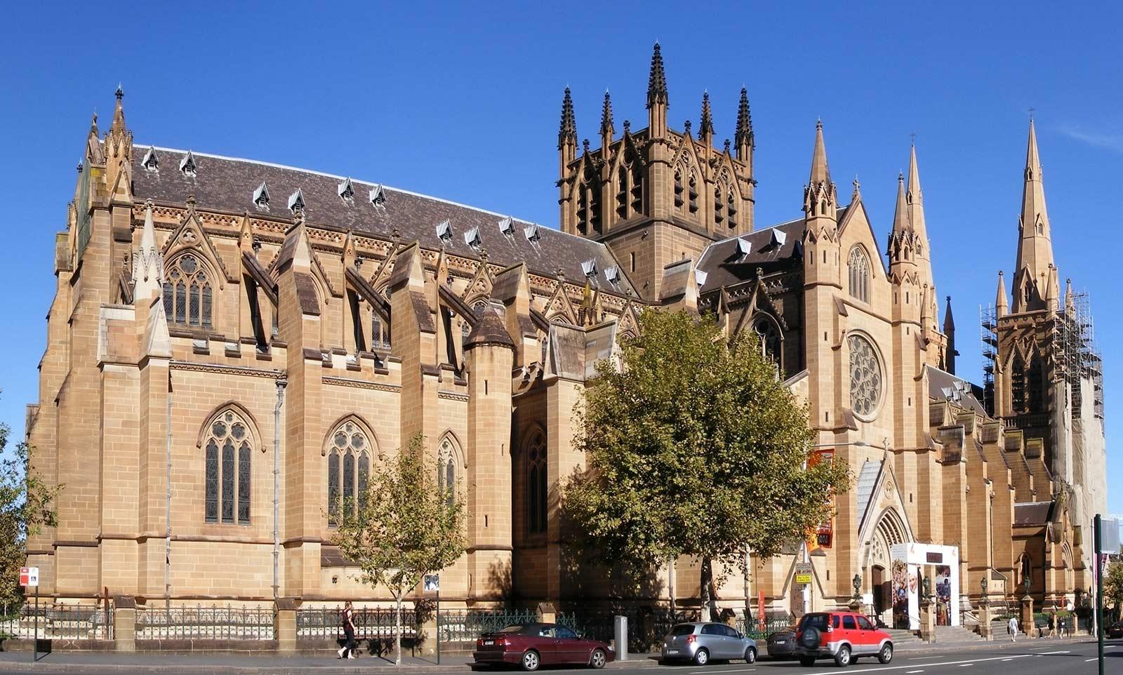 Cathedral_in_Sydney Сидней. Достопримечательности.