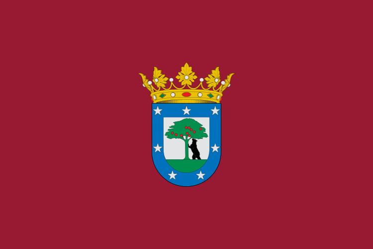 Флаг столицы Испании Мадрида