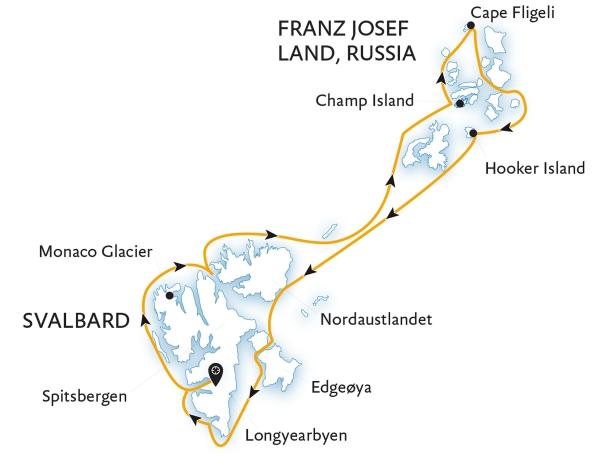 маршрут круиза землю франца-иосифа