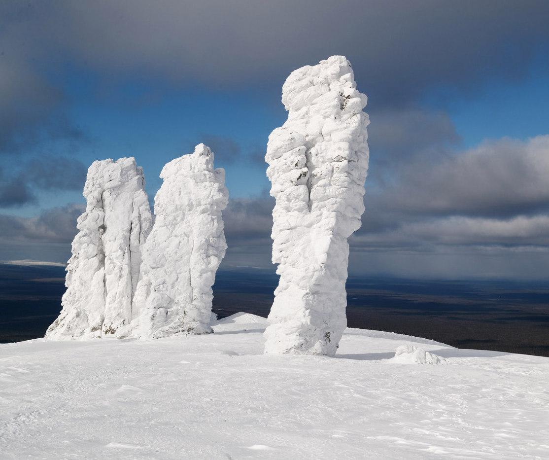 Маньпупунер зимой
