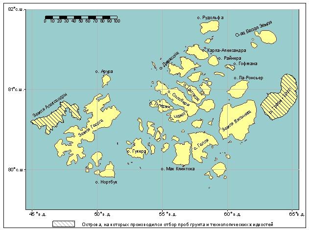 Карта Островов Земли Франца-Иосифа