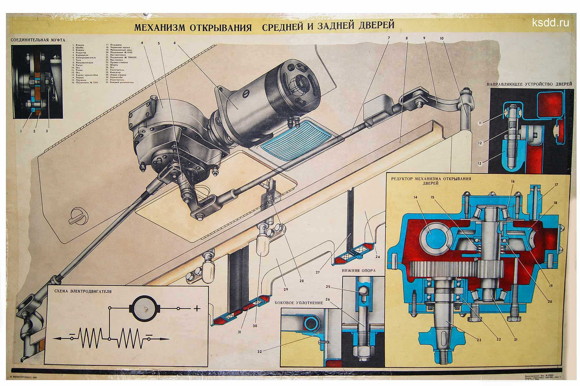 26.-Механизм-открывания-средней-и-задней-дверей