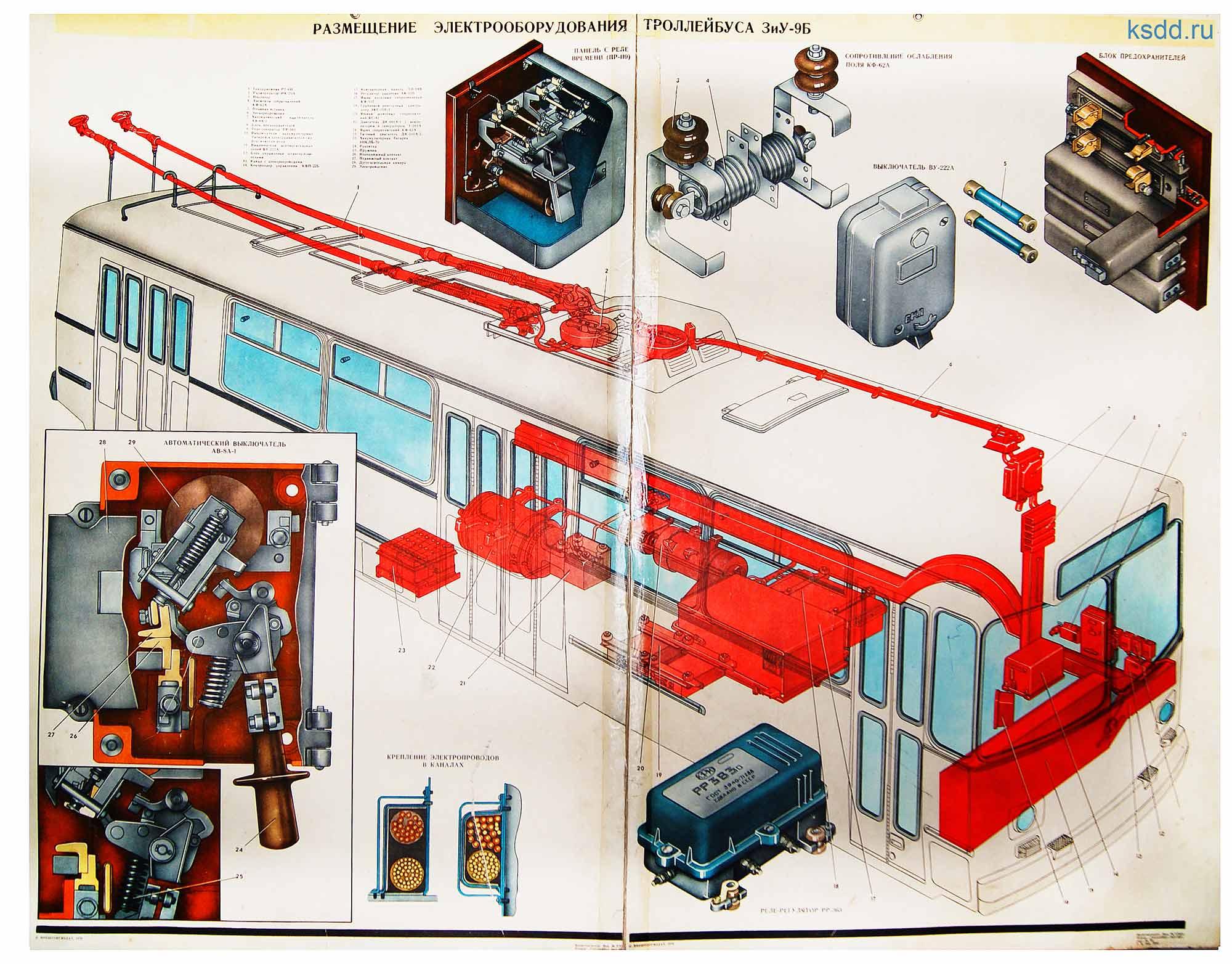 7.-Размещение-электрооборудования-троллейбуса-ЗиУ-9Б