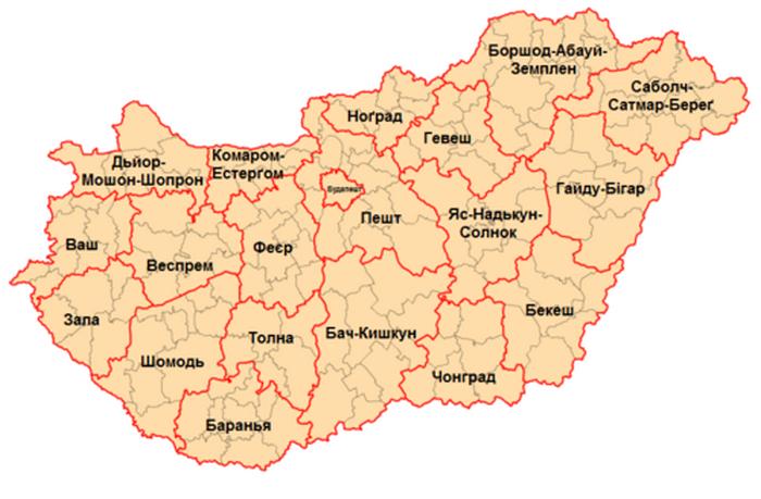 Административные деления Венгрии