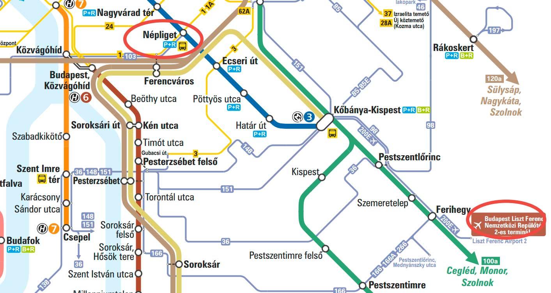 Будапешт-схема-метро