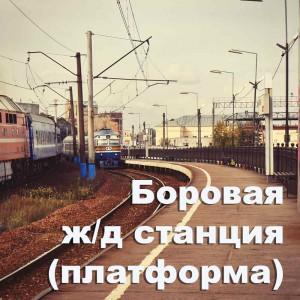 Боровая ж/д станция (платформа). Санкт-Петербург. Расписание