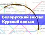 Как добраться от Белорусского вокзала до Курского вокзала