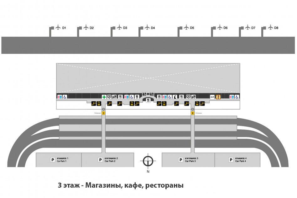 Схема-аэропорта-Бангкока-3-этаж