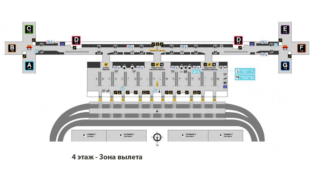 Схема-аэропорта-Бангкока-этаж