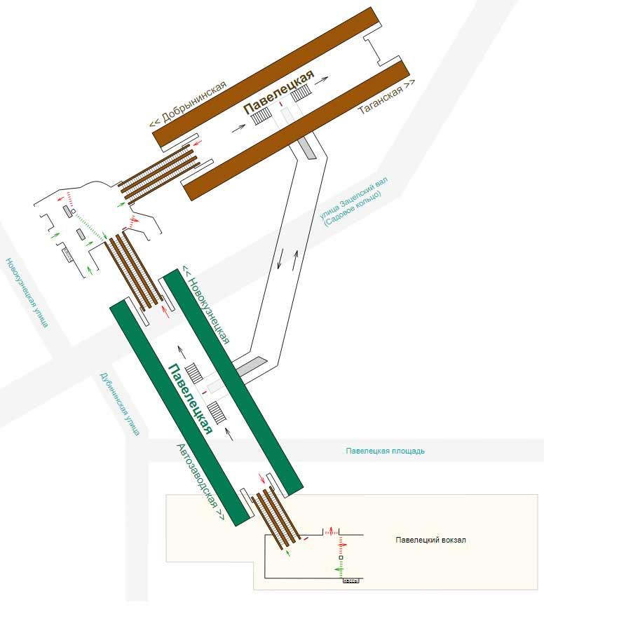 Схема от павелецкого вокзала до домодедово